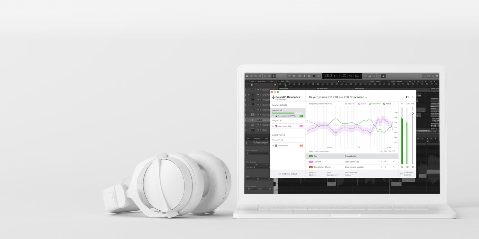Soundid Reference for headphones on a desktop PC